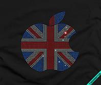 Наклейка из страз на ткань Флаг Англии (DMC 2мм-бел., 2мм-красн., 2мм-син.)