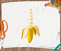 Аппликация, наклейка на ткань Банан [7 размеров в ассортименте]