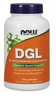 Деглицирризованный экстракт солодки, Now Foods, DGL, 400mg, 100 леденцов