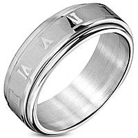 Мужское кольцо из стали прокручивающееся, в наличии 18.0, фото 1