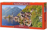 Пазлы castorland 041 Город на берегу моря (на горном склоне) hallstatt, austria Австрия в коробке 4000 элемента