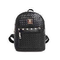Черный плетеный рюкзак