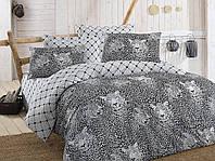Качественное Двуспальное постельное белье Eponj Home LEO SIYAH SV10