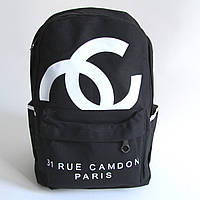 Черный городской рюкзак шанель ,Chanel