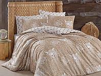 Качественное Двуспальное постельное белье Eponj Home LEO KAHVE SV10