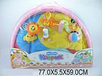 Детский игровой коврик с погремушками на дуге 898-36b в сумке 77х5х59 см