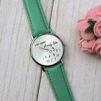 Женские Часы Geneva . Зеленый Цвет ремешка