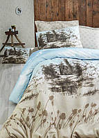 Качественное Двуспальное постельное белье Eponj Home KULEONU BEJ SV10
