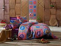 Качественное Двуспальное постельное белье Eponj Home ORNAMENT MOR SV10