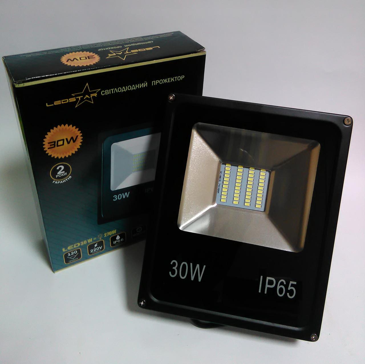 Светодиодный прожектор 30W STANDART серия SMD slim 6500K 1950lm