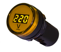 Вольтметр AD22-22 DVM желтый AC 80-500В
