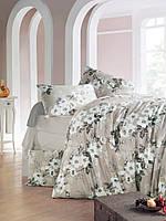 Качественное Двуспальное постельное белье Eponj Home RITA KAHVE SV10