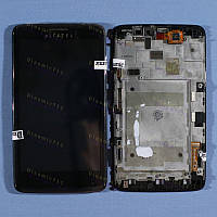 Оригинальный ЛСД экран и Тачскрин сенсор Alcatel scribe easy HD 8000 8000D модуль с рамкой