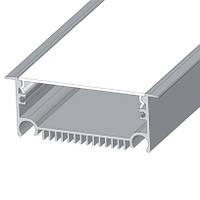 Алюминиевый профиль врезной для светодиодной Led ленты ЛСВ70 + рассеиватель