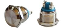 Кнопка металлическая TY 19-211A Scr (1NO)