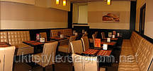 Диван для кафе №6; диван индивидуальный для кафе, мягкая мебель для кафе, диваны под заказ для кафе
