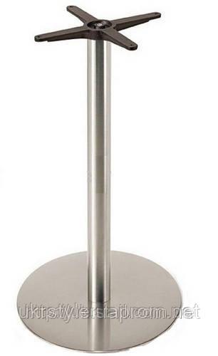 Опора для стола SSR201-110, нержавеющая сталь; база под стол, подстолья для столешниц, основания из нержавейки - Укрстайл™. Производство мебели для кафе, баров, ресторанов. в Киеве