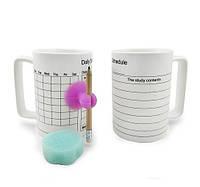 Чашка Органайзер  белая с карандашом