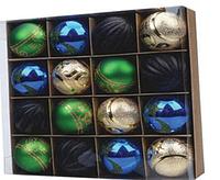 Елочные игрушки Шары новогодние цвета ассорти 6 см 16 шт в колбе