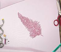 Наклейка из страз на ткань Перо (DMC 2мм-роз., 3мм-роз., 4мм-роз.)