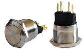 Кнопка металлическая TYJ 22-211 (1NO+1NC)