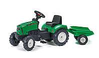 Трактор педальный с прицепом Falk Lander зеленый