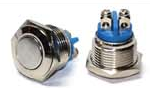 Кнопка металлическая TY 16-211A Scr (1NO)