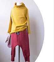 Бордовые штаны с карманами. Внутри начес. Практичные и стильные 110 см, фото 1