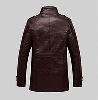 Мужская зимняя дубленка. Мужское пальто. Модель 611, фото 2