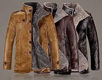 Мужская зимняя дубленка. Мужское пальто. Модель 611, фото 6