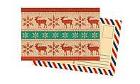 Дизайнерская открытка. Северные олени