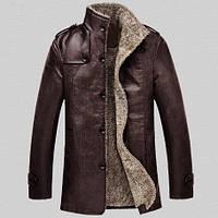 Мужская зимняя дубленка. Мужское пальто. Модель 611, фото 1