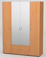 Шкаф 7 Гардероб с зеркалом (1600*536*2176Н)