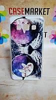Cиликоновый чехол бампер для Samsung Galaxy A3 A300 с рисунком Кот в очках, фото 1