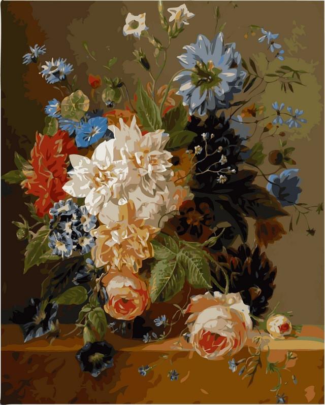 Картины по номерам 40 × 50 см. Роскошные цветы худ. Блумерс, Арнольдус