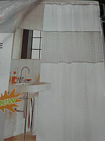 Штора для ванной с галограммой белая