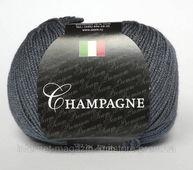 Пряжа Сеам Champagne серый