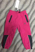Балоневые штаны на флисе для девочек 86-116см