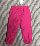 Штаны утеплённые (плащёвка) для девочек 86 см, фото 2