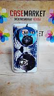 Чехол силиконовый бампер для Samsung J1 mini Galaxy J105 с рисунком Кот в очках, фото 1