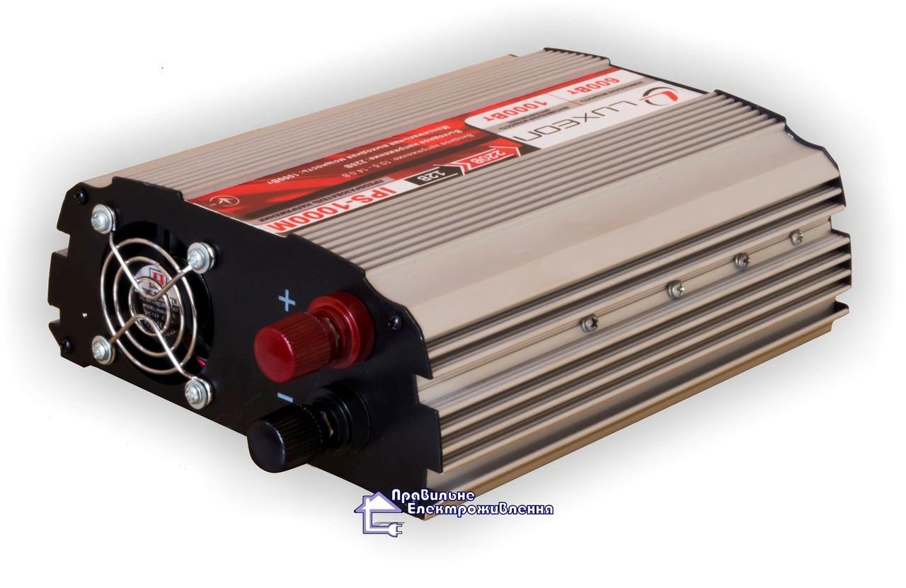 Інвертор 12/220 (перетворювач напруги) Luxeon IPS-1000M апроксимована синусоїда