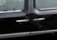 Накладки на ручки (OmsaLine, 4 шт, нерж) - Renault Kangoo (2008+/2013+)
