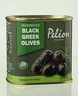 Оливки черные маринованные в оливковом масле с травами/Pelion Marinated Black Greek Olives 290 г.