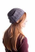 Серая осенне-зимняя шапка