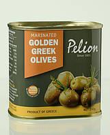 Оливки жёлтые маринованные в оливковом масле с травами/Pelion Marinated Golden Greek Olives 290 г.