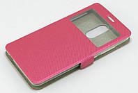 Чехол книжка для Xiaomi Redmi Note 3 боковой с окошком, Exclusive Star розовый