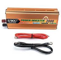Инвертор преобразователь напряжения AC/DC SSK 2000W 24V: 24В в 220В, КПД 90%, алюминий, 242х96х54 мм