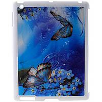 """Чехол для планшета Drobak 3D для Apple iPad 2/3/4 """"Метелик на квітці """" (930208)"""