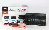 Инвертор напряжения 12-220 AC/DC 1000W SSK: КПД 90%, частота на выходе 50 Гц, USB порт, индикаторы