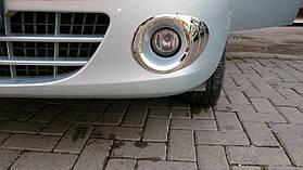 Окантовка на противотуманники (2 шт, нерж) - Renault Kangoo (2008+/2013+)